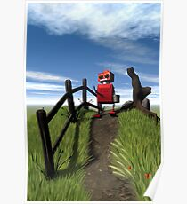 Little Red Robot Poster