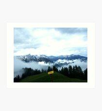 austrian mountains 6 Art Print