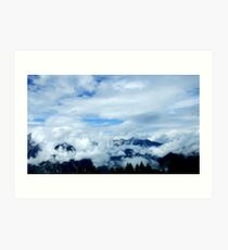 austrian mountains 9 Art Print