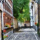 Lier - Beguinage street - Belgium by Gilberte