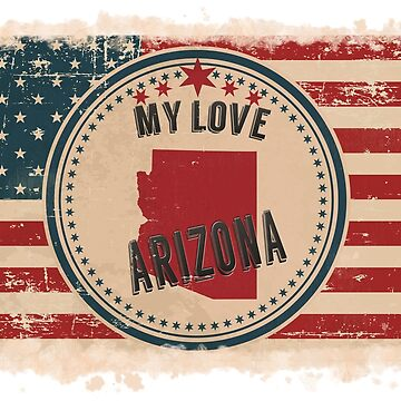 Arizona Pride Retro US Flag by Flaudermoon