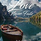 Die Liebe versagt nie 2019 (BERGE UND BOOT) von JW ARTS & CRAFTS
