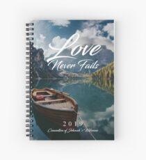 Cuaderno de espiral El amor nunca falla 2019 (montañas y barcos)