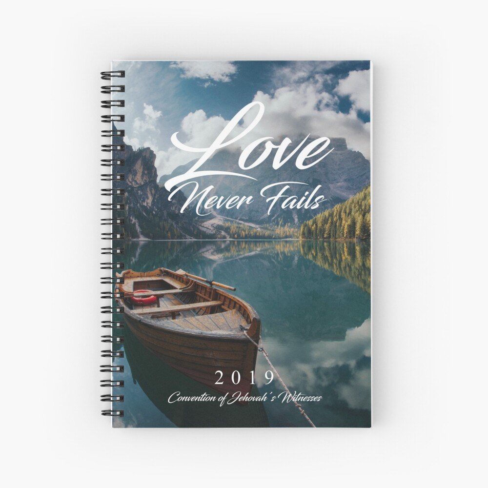 LOVE NEVER FAILS 2019 (MOUNTAINS AND BOAT) Spiral Notebook