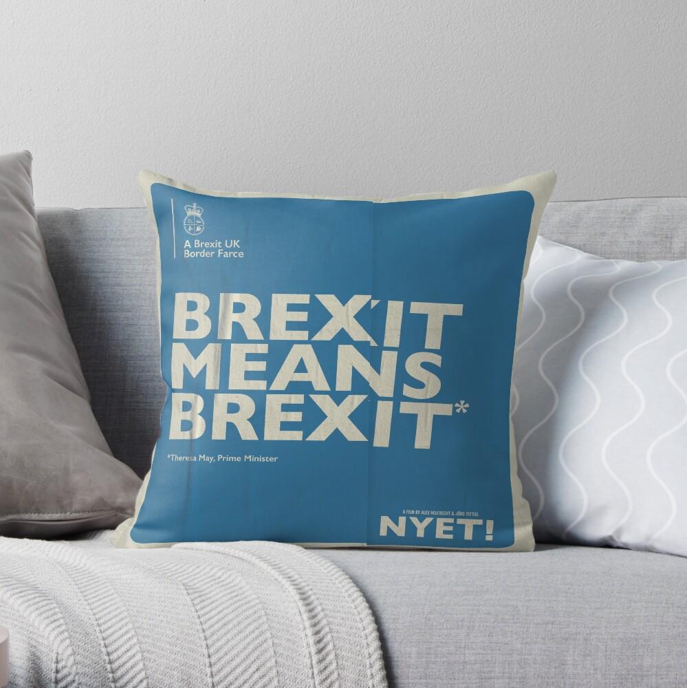 Brexit Pillow Throw Pillow