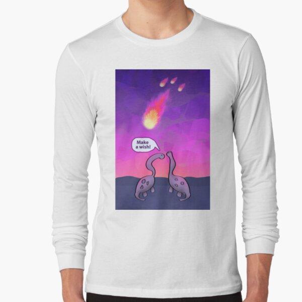 Dinosaurs Admiring Asteroid Long Sleeve T-Shirt