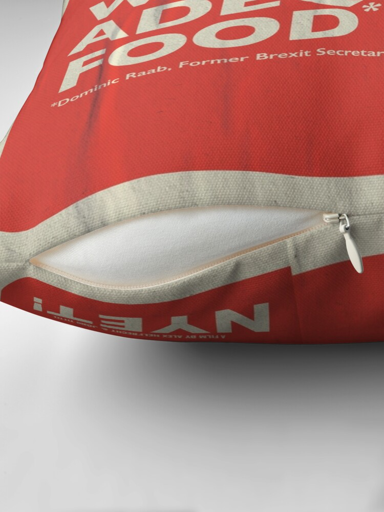 Alternate view of Adequate Food Pillow Throw Pillow