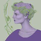 art nouveau vegetable goddess by EllenLambrichts