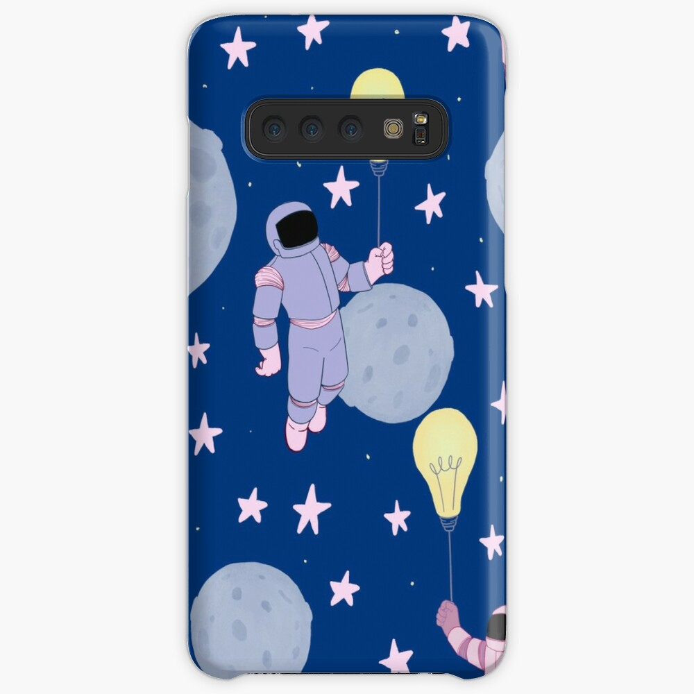 Pink and Purple Astronauts with Lightbulbs Samsung Galaxy Snap Case