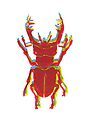 Stag Beetle Tricolore lino cut by VrijFormaat