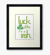 Luck of the Irish Framed Print