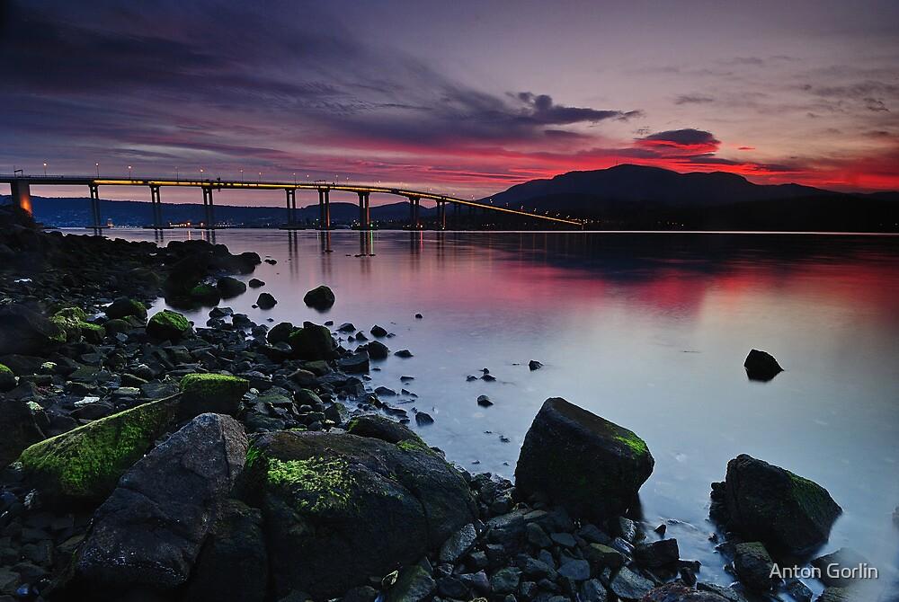 Sunset over Hobart by Anton Gorlin