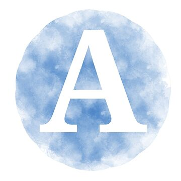 Letter A - Blue by gaman