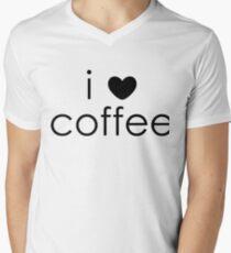 i love coffee V-Neck T-Shirt