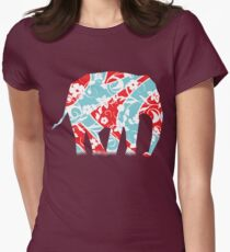 Decorated Elephant Women's Fitted T-Shirt