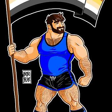 ADAM LIKES BEAR PRIDE FLAG by bobobear
