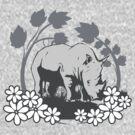 Shy Rhino by KimberlyMarie