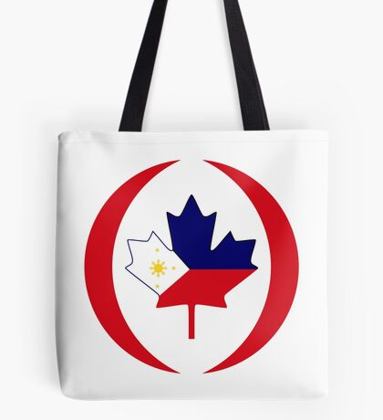 Filipino Canadian Multinational Patriot Flag Series Tote Bag