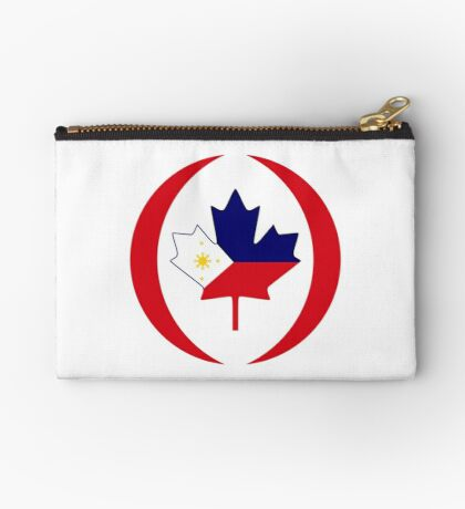 Filipino Canadian Multinational Patriot Flag Series Zipper Pouch