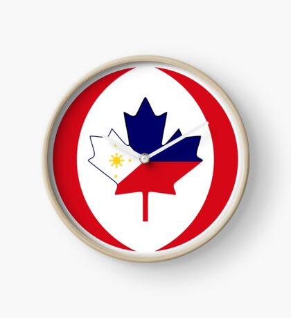Filipino Canadian Multinational Patriot Flag Series Clock