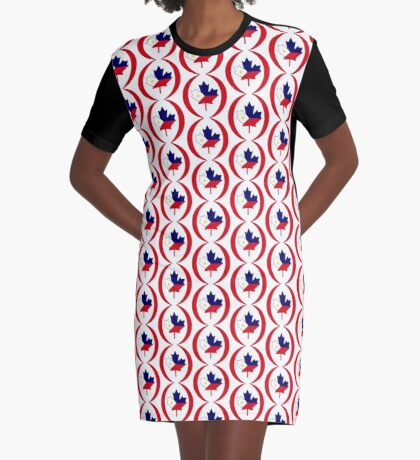 Filipino Canadian Multinational Patriot Flag Series Graphic T-Shirt Dress