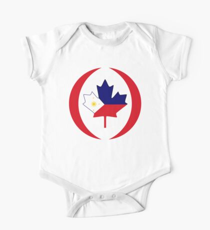 Filipino Canadian Multinational Patriot Flag Series Kids Clothes