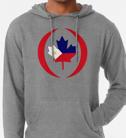 Filipino Canadian Multinational Patriot Flag Series Lightweight Hoodie