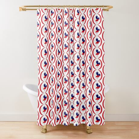 Filipino Canadian Multinational Patriot Flag Series Shower Curtain