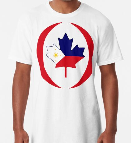 Filipino Canadian Multinational Patriot Flag Series Long T-Shirt