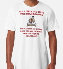 DiceDads - Will Sell My Kids For Boardgames Long T-Shirt