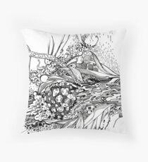 Multi-Dimensional Snake Eye - Illustration Throw Pillow