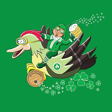 St Patrick's Day Leprechaun for Pilots And Veterans by brodyquixote