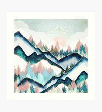 Winterwald Kunstdruck