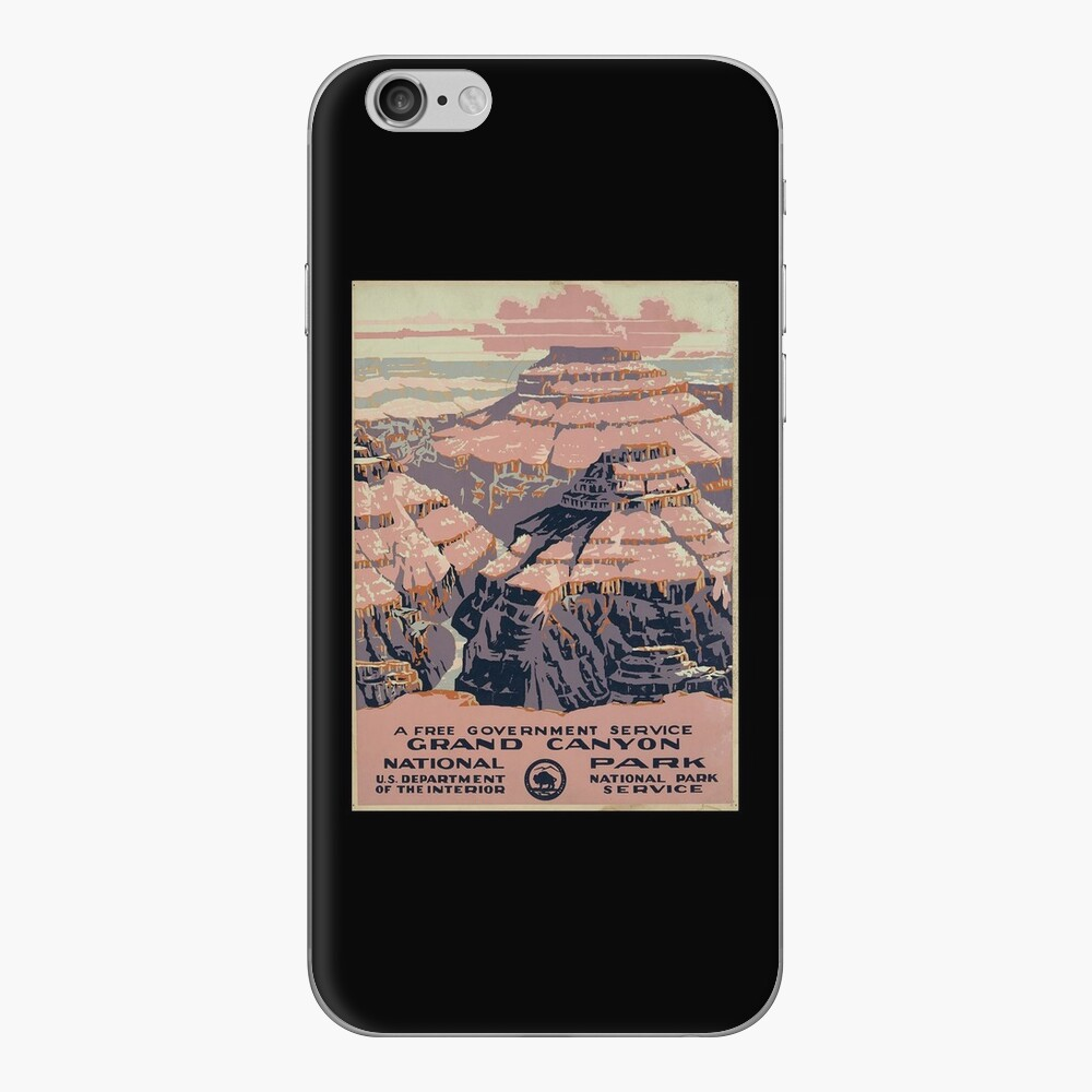 Grand Canyon National Park, a free government service (1938) iPhone Skin
