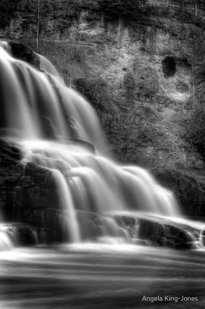Gooseberry Falls in mono by Angela King-Jones