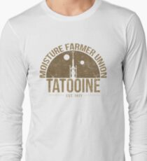 Moisture Farmer Union (brown) Long Sleeve T-Shirt