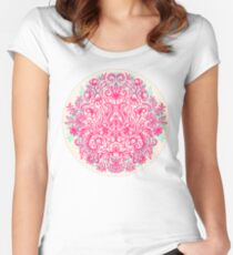 Spring Arrangement - floral doodle in pink & mint Women's Fitted Scoop T-Shirt