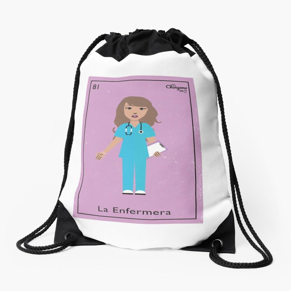 La Enfermera #2 Drawstring Bag