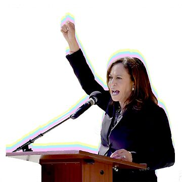 "Kamala Harris ""Rainbow Fist"" by itsmebecca"