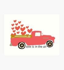 Valentine's Truck Art Print