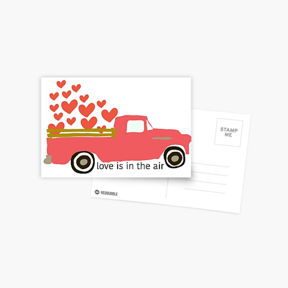 Valentine's Truck Postcard