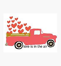 Valentine's Truck Photographic Print