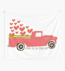 Valentine's Truck Wall Tapestry