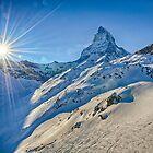 Mt. Matterhorn and The Setting Sun - Zermatt, Switzerland by Susan Dost