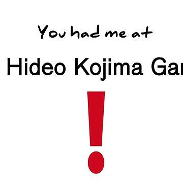 """""""A Hideo Kojima Game"""" Black Text by Venatura"""