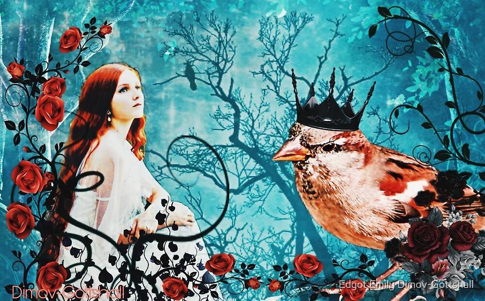 Thumbelina, fairy tales, bird, rose, princess, prince, magic ...
