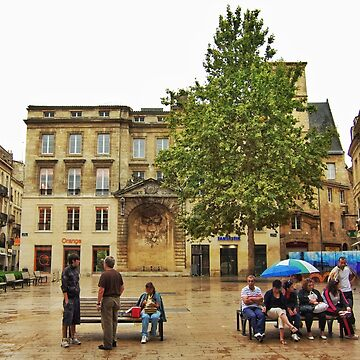 A rainy place in Bordeaux France on Sunday afternoon by paulmcnam