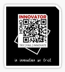 Homo Innovator | Black Collection Sticker