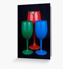 Abstract Primary colors Greeting Card