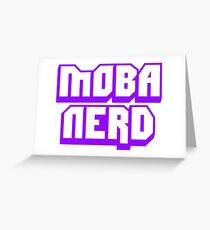 MOBA Nerd Multiplayer Online Battle Arena Greeting Card